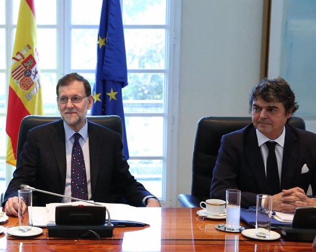 Mariano Rajoy y Jorge Moragas