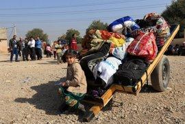 Los desplazados por la ofensiva sobre Mosul se duplican en la última semana