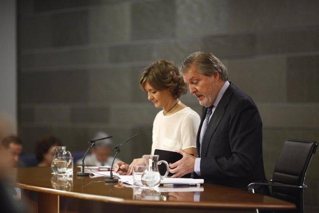 Rueda de prensa de Iñigo Méndez de Vigo e Isabel García Tejerina tras el Consejo