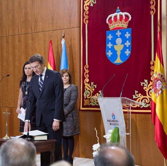 Alberto Núñez Feijóo toma posesión do seu cargo