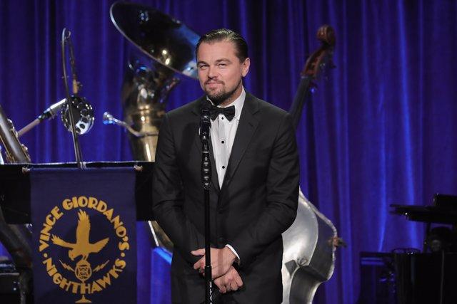 Leonardo DiCaprio en la fiesta de honor a toda la carrera de Martin Scorsese