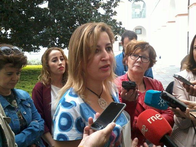 Carmen Lizárraga, hoy ante los medios