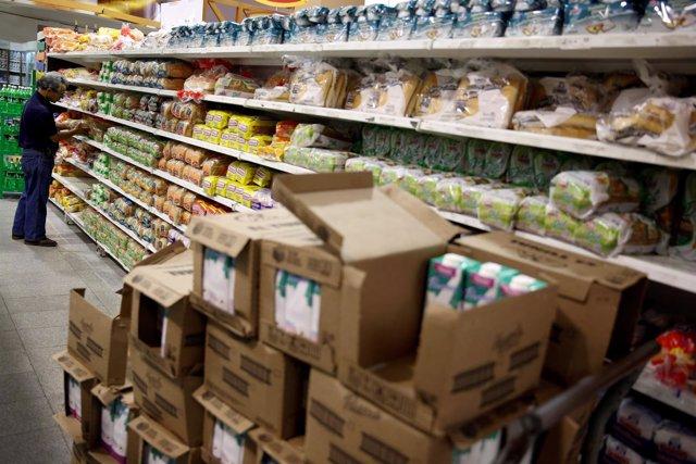 Un supermercado de Caracas, Venezuela