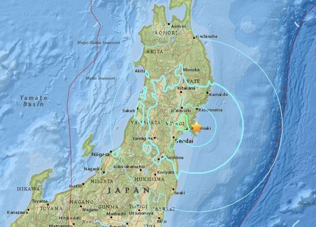 Terremoto cerca de la ciudad japonesa de Sendai