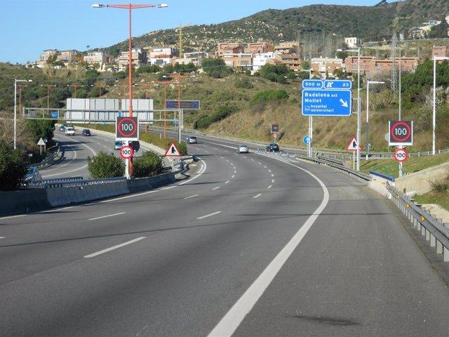 Velocidad variable en la carretera B-20