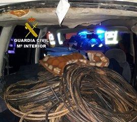 Desarticulado en Sevilla un grupo dedicado al robo de cable de cobre