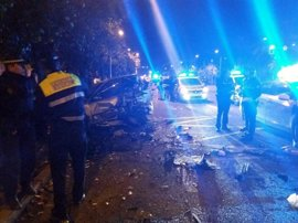 Un menor provoca un accidente múltiple tras evitar un control de alcoholemia en Sevilla