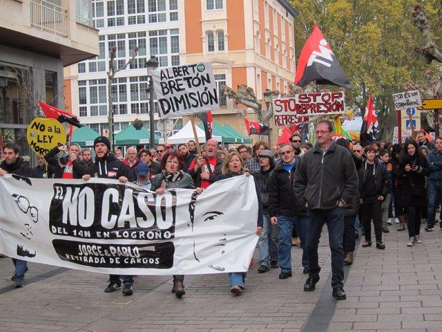 Manifestación STOP Represión La Rioja