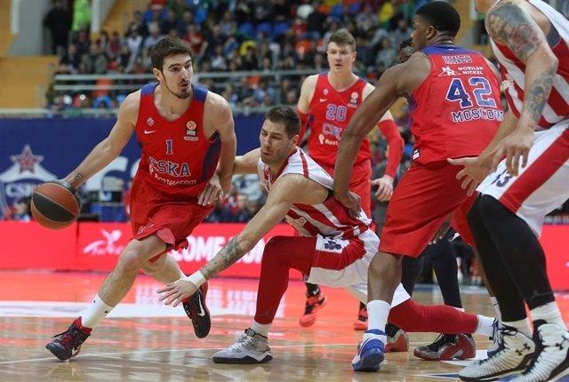 Nando De Colo en el CSKA - Estrella Roja