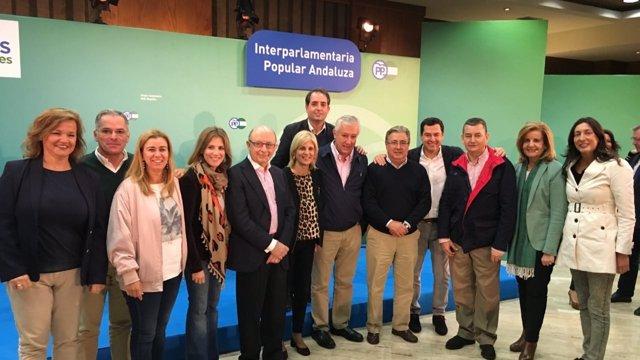 Participantes en la Interparlamentaria del PP-A en Córdoba