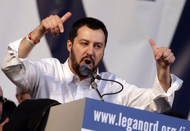 El líder del partido ultraderechista Liga Norte, Matteo Salvini