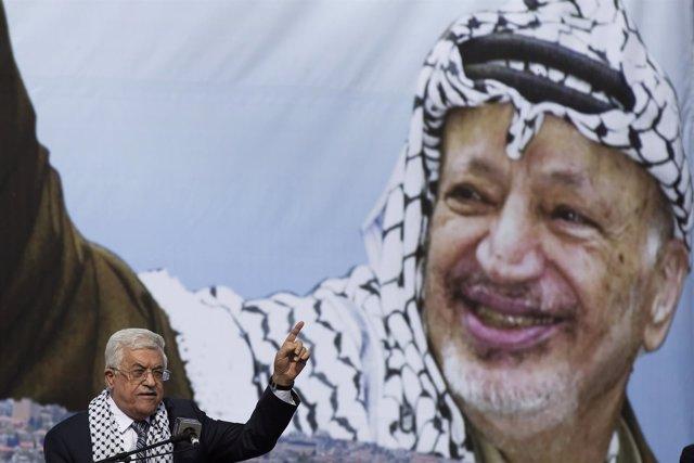 Mahmud Abbas en 10º aniversario muerte de Arafat