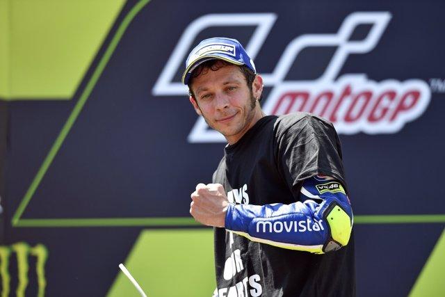 Valentino Rossi durante el GP de Catalunya