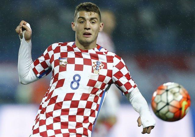 Mateo Kovacic con la selección de Croacia