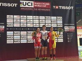 Tania Calvo consigue el bronce en los 500 metros en la Copa del Mundo de Apeldoorn