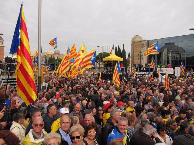 Concentración del 13N en apoyo a los cargos independentistas investigados
