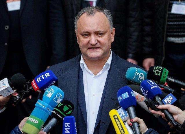 El candidato presidencial socialista, Igor Dodon