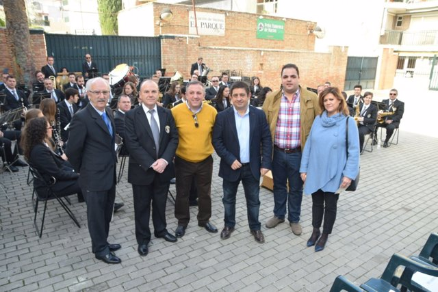 Visita del presidente de la Diputación de Jaén, Francisco Reyes, a Martos