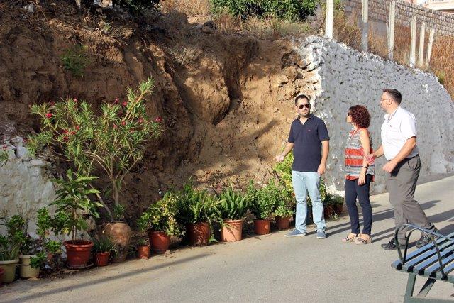 Resto de lluvias torrenciales en Lanjarón (Granada)