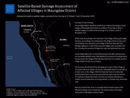 Destrucción de viviendas Rohingya