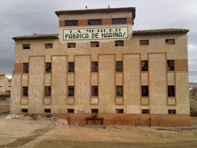 Edificio de la Harinera de la Merced en Calatayud