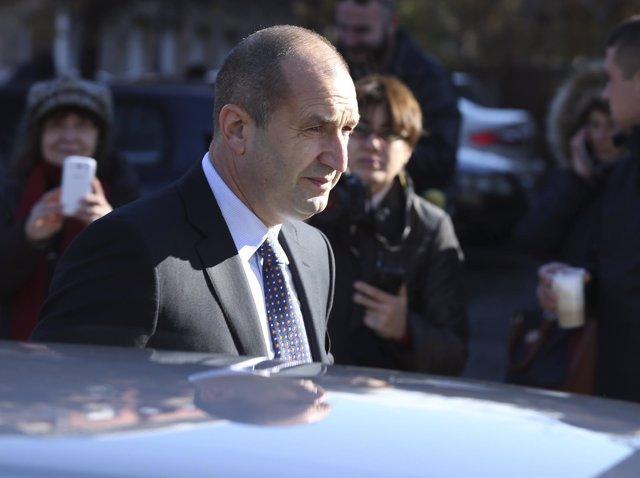 El candidato presidencial Rumen Radev