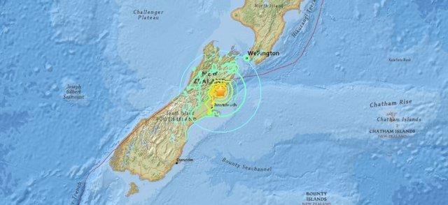 Zona afectada por el terremoto de Nueva Zelanda