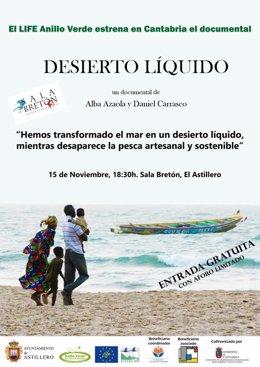 Cartel de la exhibición del documenta 'Desierto líquido'