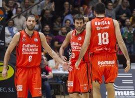 Valencia Basket y Unicaja doblegan a Baskonia y Bilbao Basket