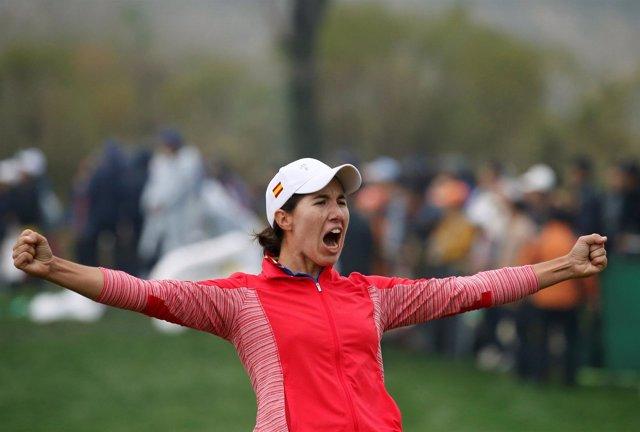 La golfista española Carlota Ciganda