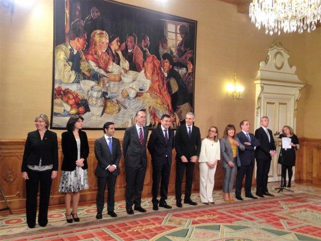 Los diez conselleiros de Feijóo en noviembre de 2016
