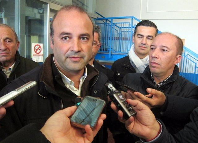 David Castaño atiende a los medios en Salamanca