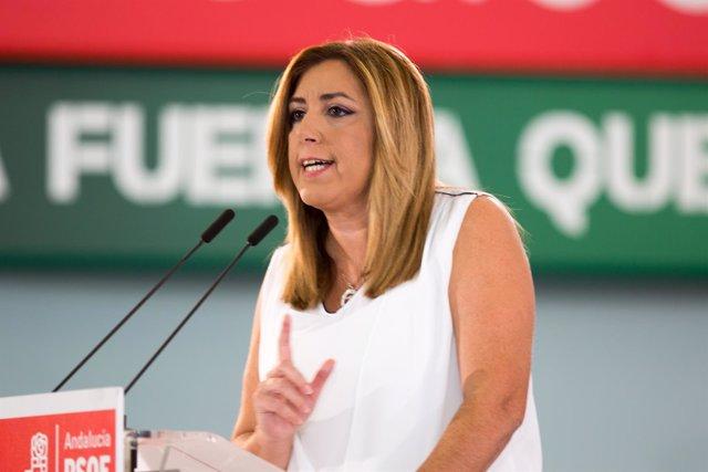 Susana Díaz interviene ante el Comité Director extraordinario del PSOE-A