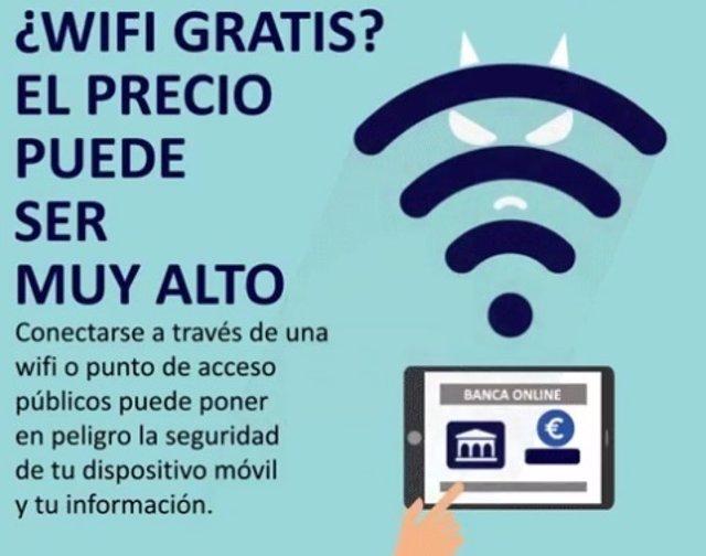 Policía Nacional alerta sobre el WiFi gratis