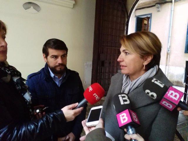 Durán en rueda de prensa sobre los Premios Ciutat de Palma