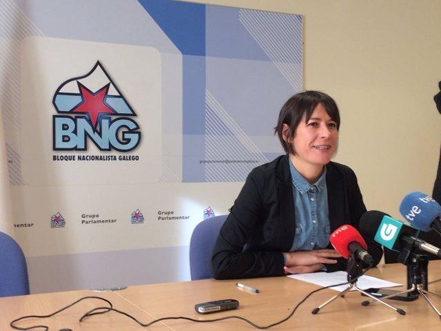 La portavoz nacional del BNG, Ana Pontón, en rueda de prensa