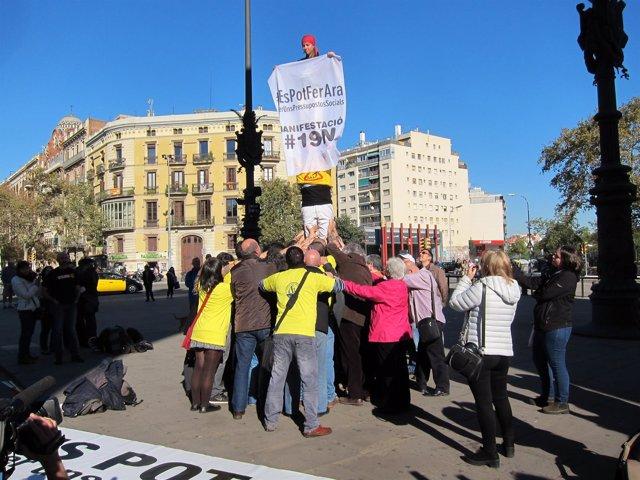 Representantes de entidades sociales y sindicatos convocantes del 19N