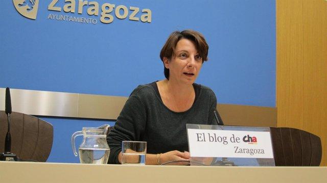 La concejal de CHA en el Ayuntamiento de Zaragoza, Leticia Crespo