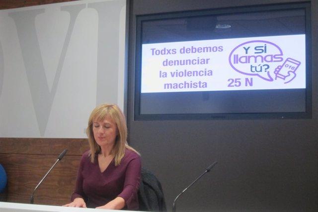 La concejala de Atención a las Personas e Igualdad, Marisa Ponga