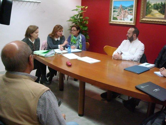Reunión en el Ayuntamiento de Jaén para la apertura del albergue