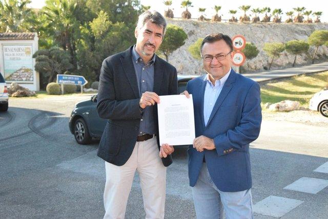 Miguel Ángel Heredia y Victor Navas en rueda de prensa en Benalmádena