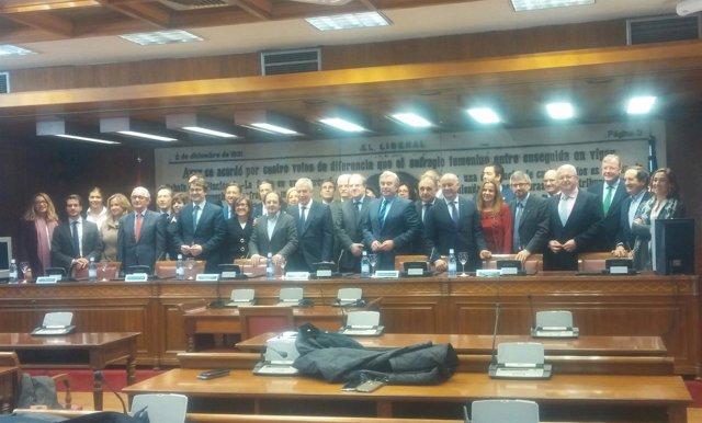 Constitución del Grupo Territorial de senadores del PP por Castilla y León