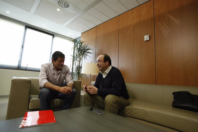 Reunión de Javier Fernández y Miquel Iceta en Ferraz