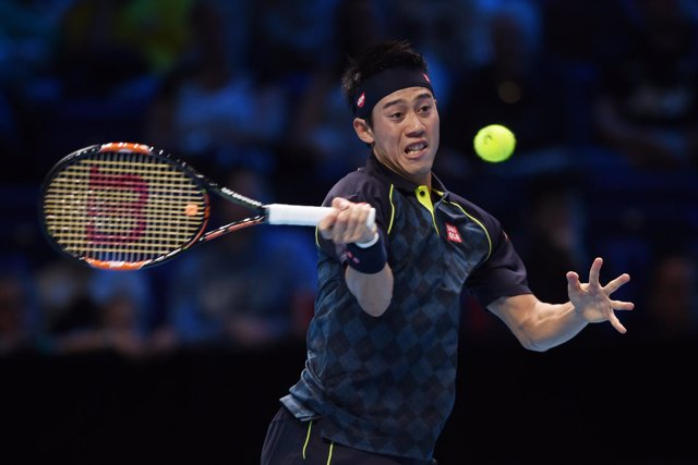 Kei Nishikori en las ATP World Tour Finals