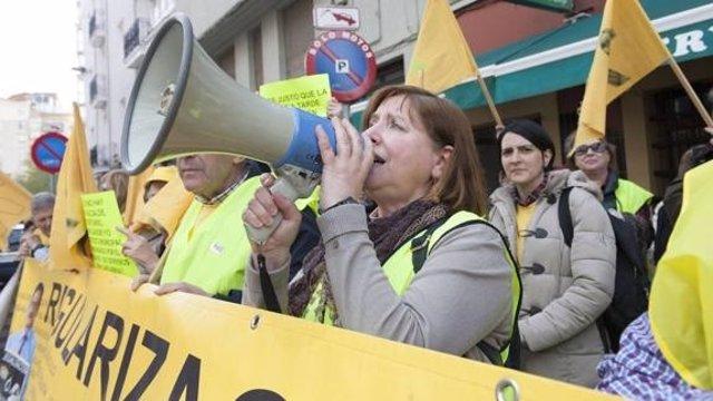 Protesta de AMA frente al Gobierno (Archivo)