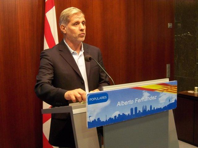 El líder del PP de Barcelona, Alberto Fernández