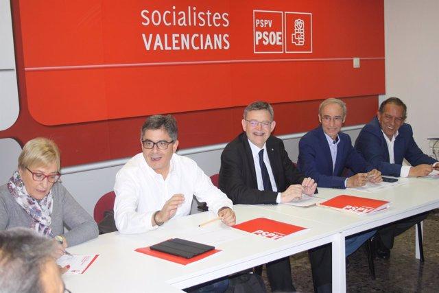 Ximo Puig en la reunión de la Comisión Ejecutiva Nacional del PSPV
