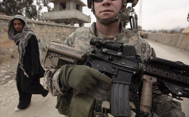 Soldado de EEUU en Afganistán