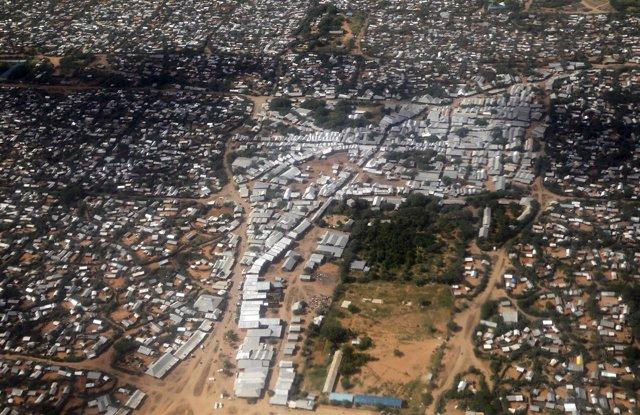Vista aérea del campamento de refugiados de Dadaab, en Kenia