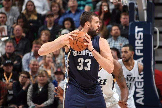 Marc Gasol en el Utah Jazz - Memphis Grizzlies